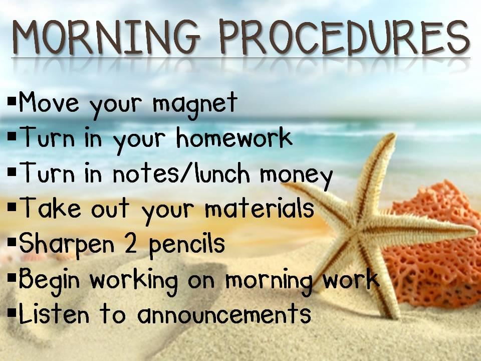 Procedures Miss Murphy S 4th Grade Classroom